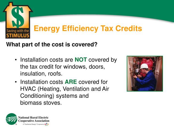 Energy Efficiency Tax Credits