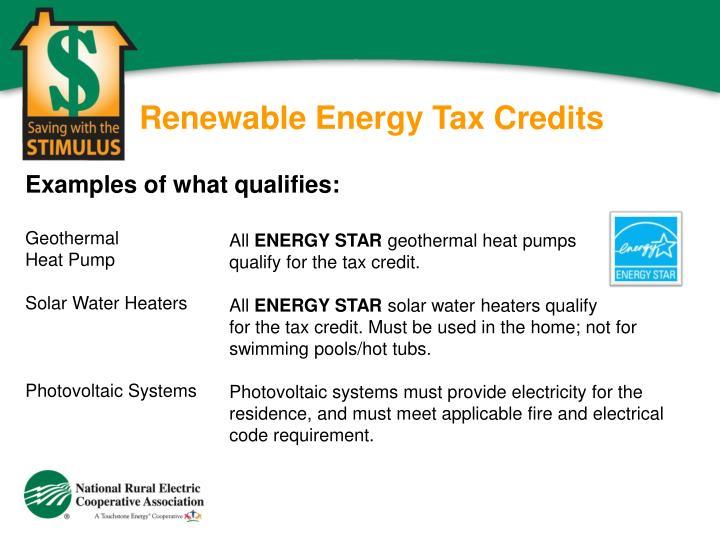 Renewable Energy Tax Credits