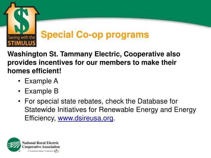 Special Co-op programs