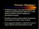 strategic directions
