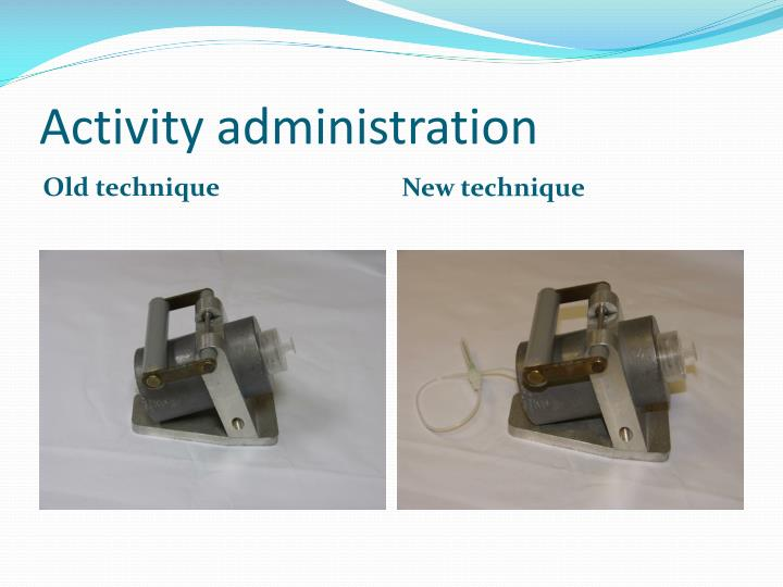Activity administration