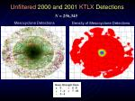 unfiltered 2000 and 2001 ktlx detections