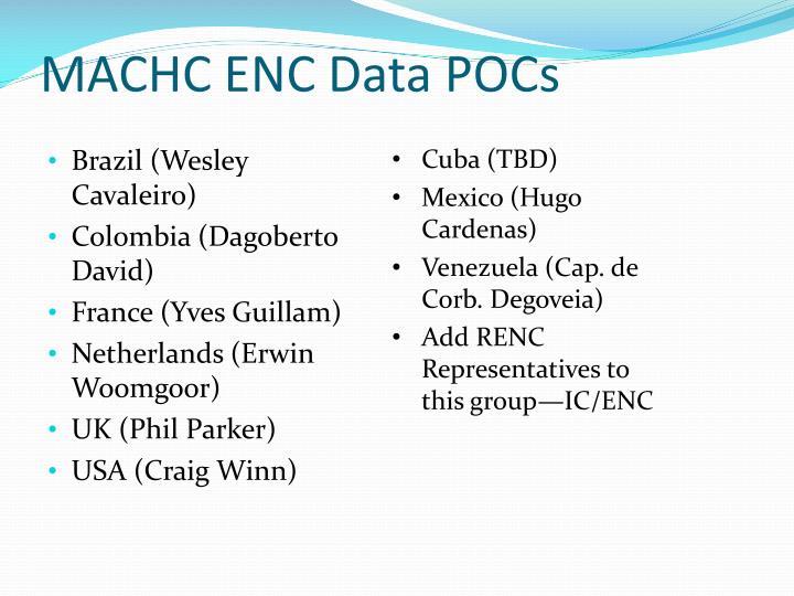 MACHC ENC Data POCs