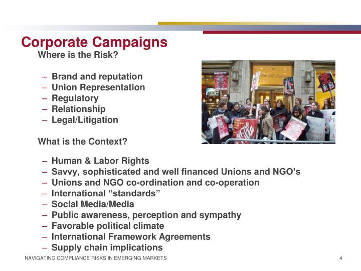Corporate Campaigns