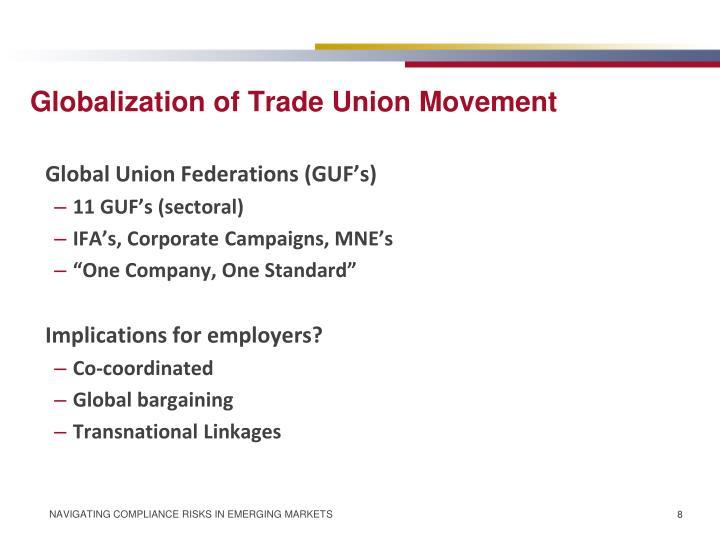 Globalization of Trade Union Movement