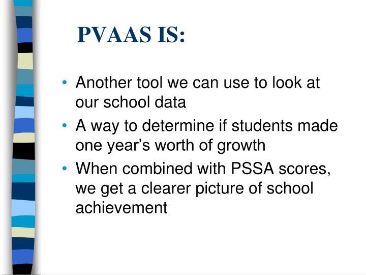 PVAAS IS: