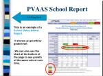 pvaas school report