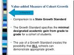 value added measure of cohort growth