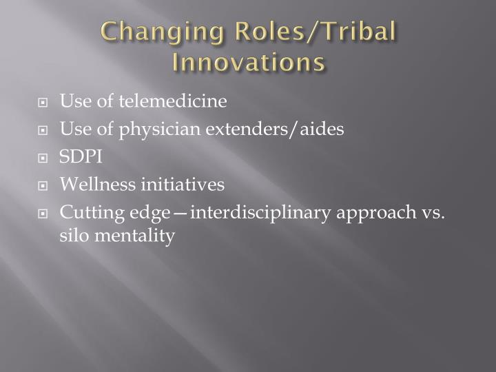 Changing Roles/Tribal Innovations