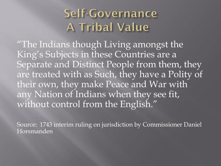 Self-Governance