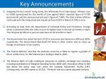 key announcements1