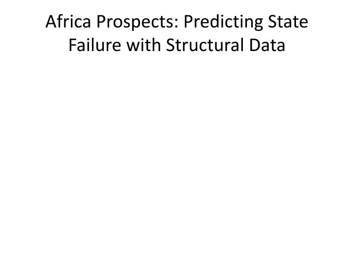 Africa Prospects: