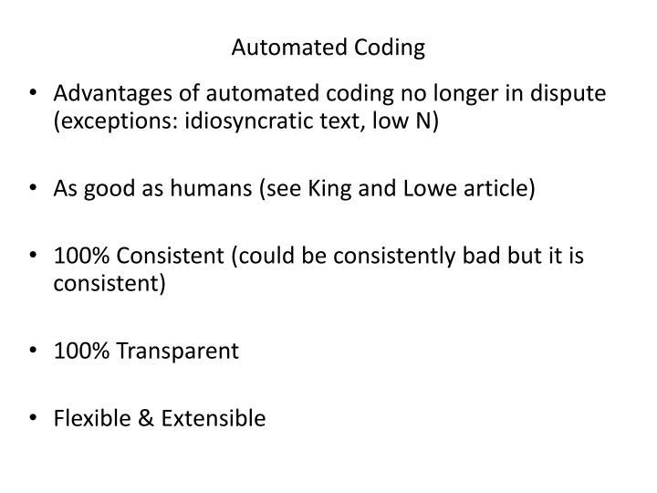 Automated Coding