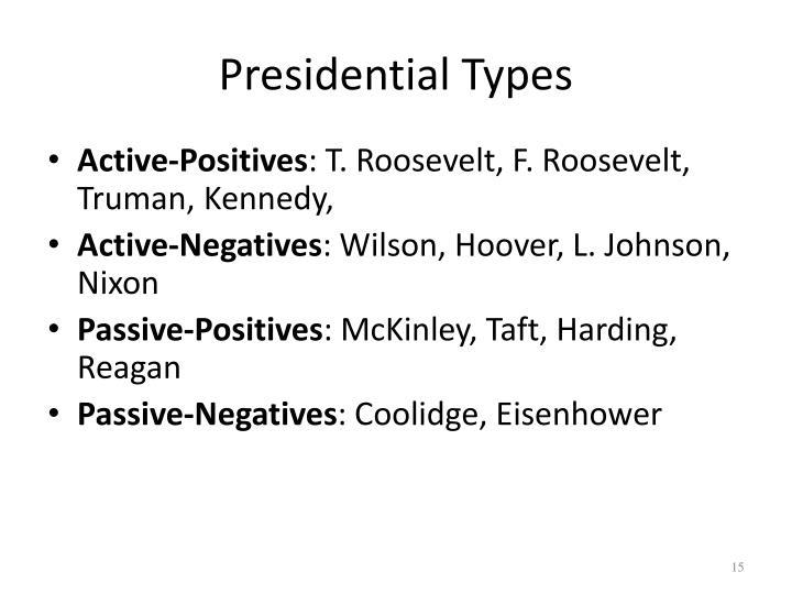 Presidential Types
