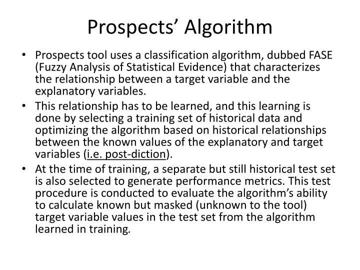 Prospects' Algorithm