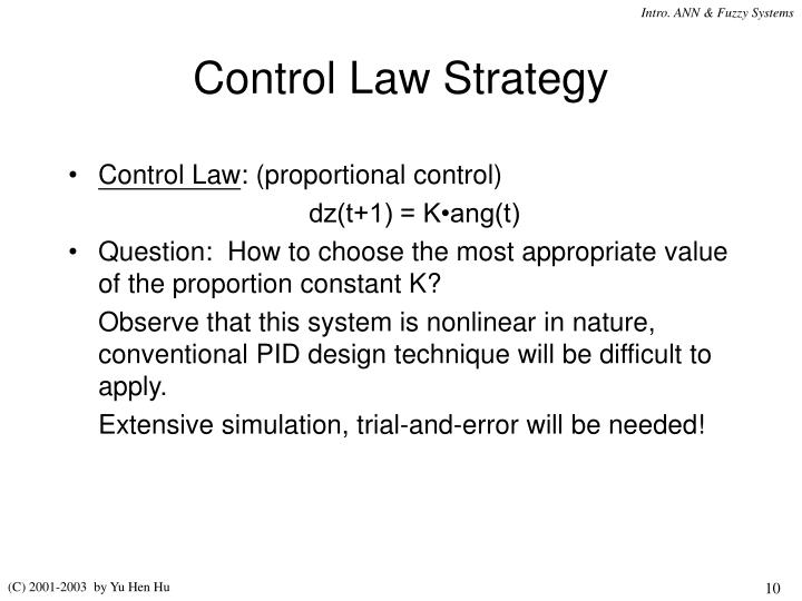 Control Law Strategy