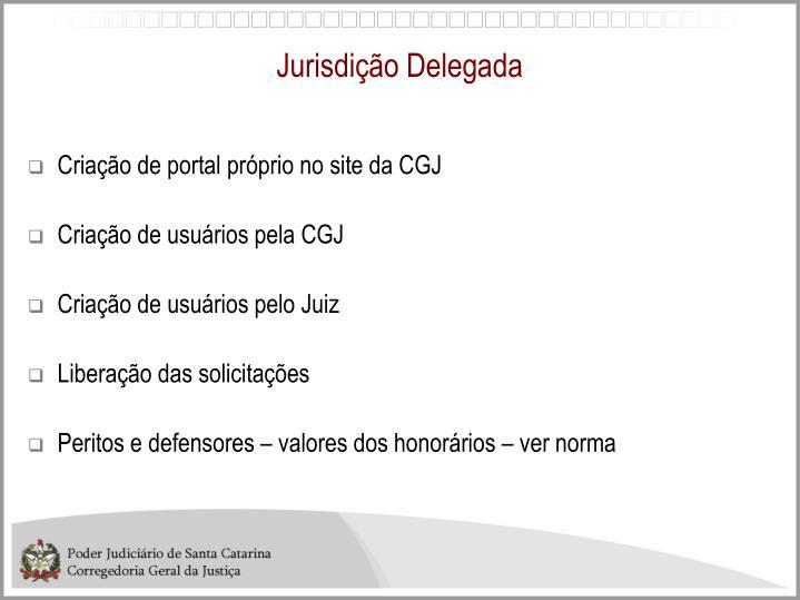 Jurisdição Delegada