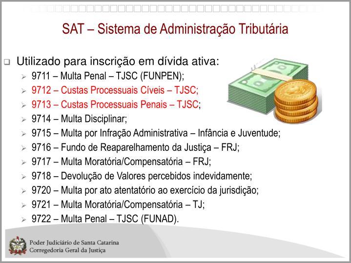 SAT – Sistema de Administração Tributária