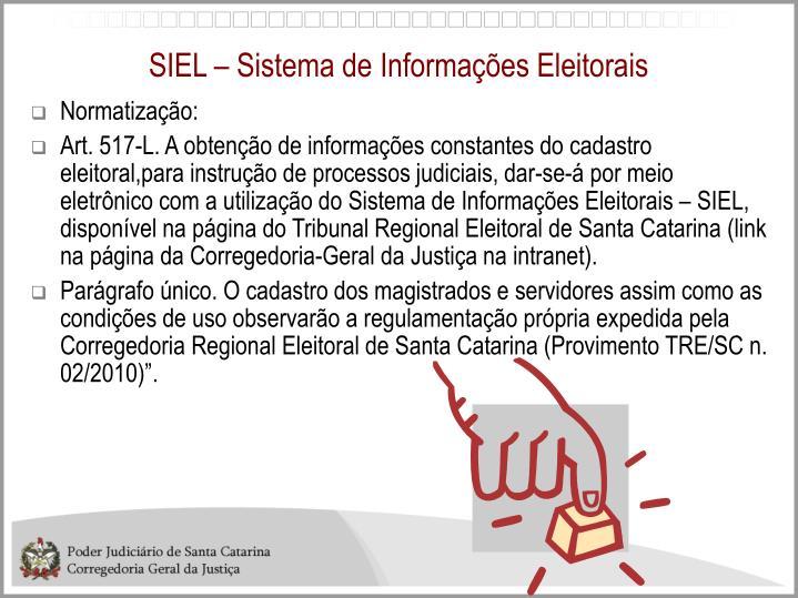 SIEL – Sistema de Informações Eleitorais