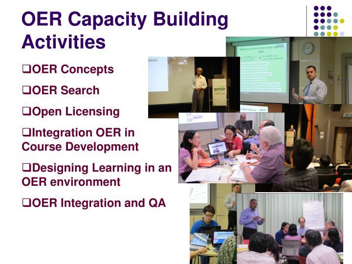 OER Capacity Building Activities