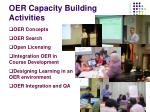 oer capacity building activities