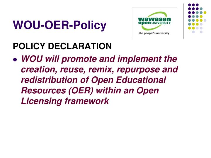 WOU-OER-Policy
