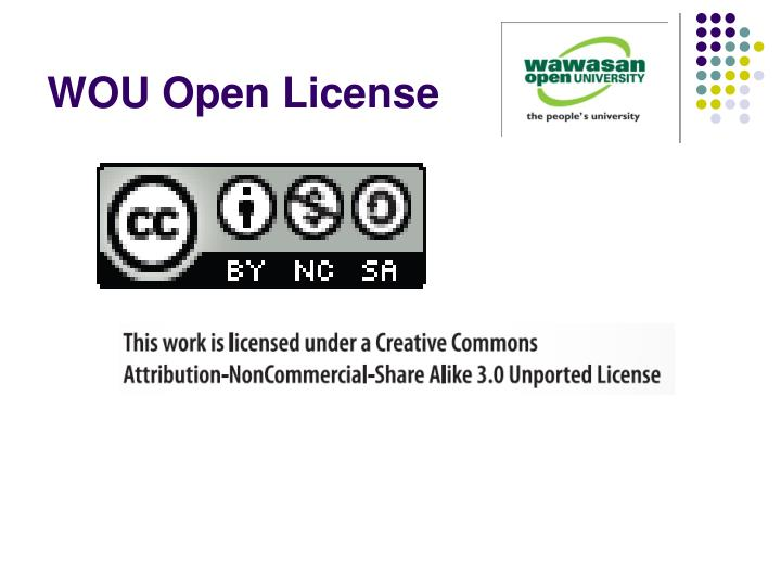 WOU Open License