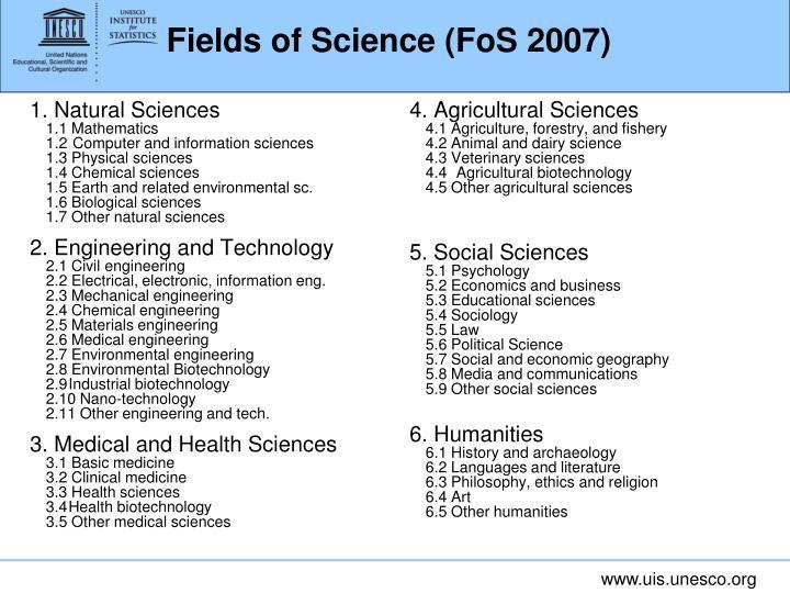 1. Natural Sciences