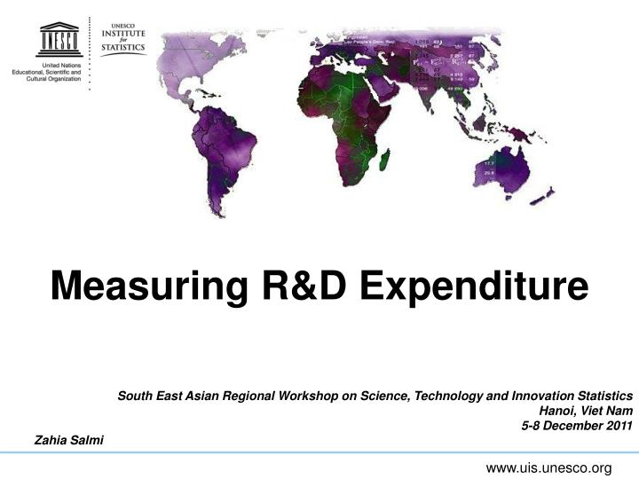 measuring r d expenditure
