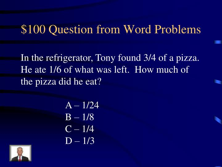 $100 Question from Word Problems