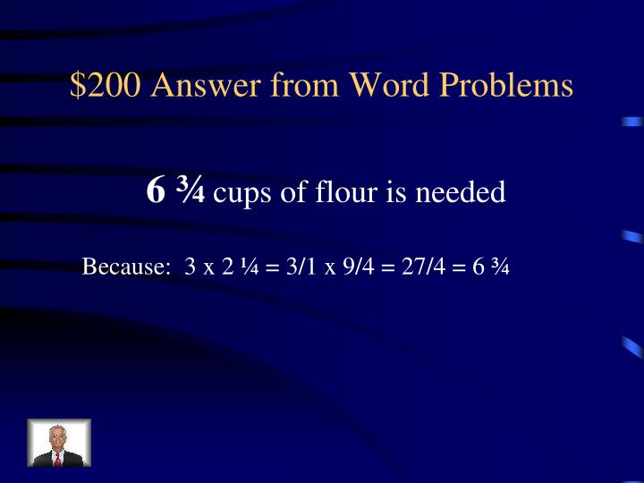 $200 Answer from Word Problems