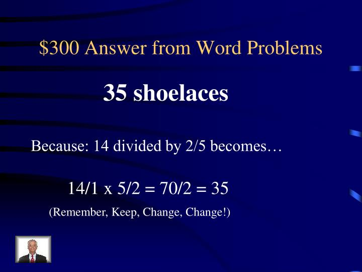 $300 Answer from Word Problems