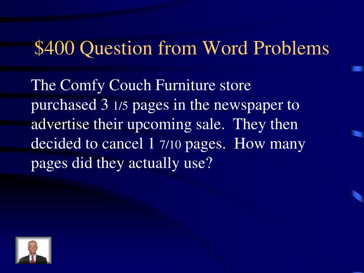$400 Question from Word Problems