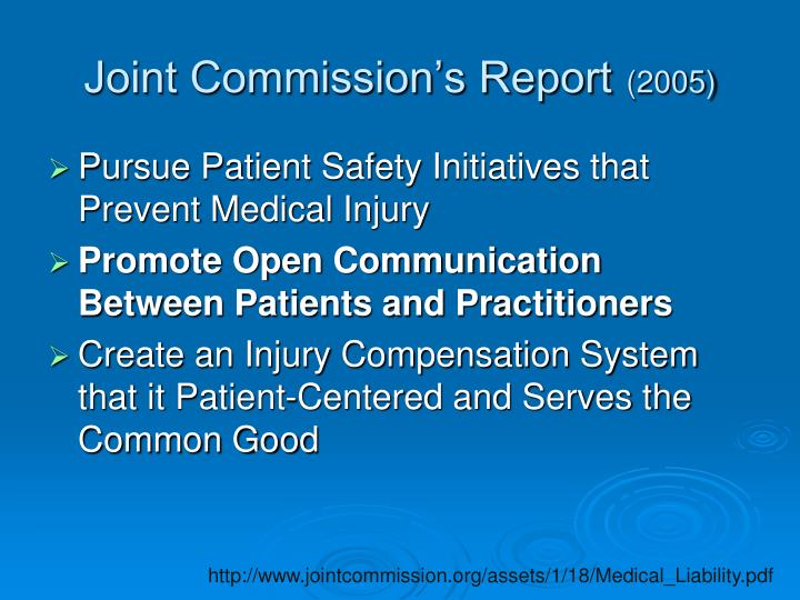 Joint Commission's Report