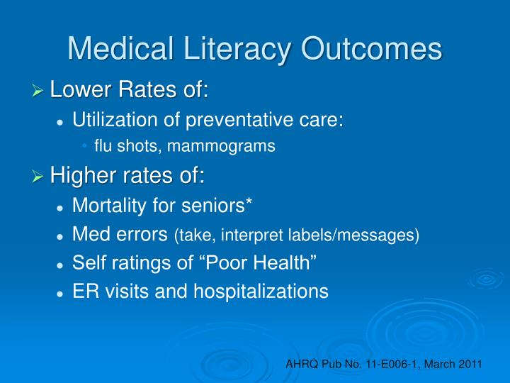 Medical Literacy Outcomes