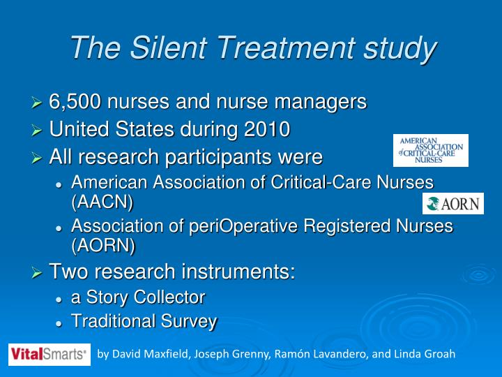 The Silent Treatment study