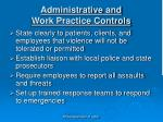 administrative and work practice controls1