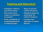 training and education3