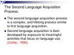 the second language acquisition process