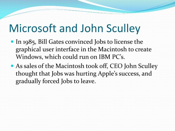 Microsoft and John Sculley
