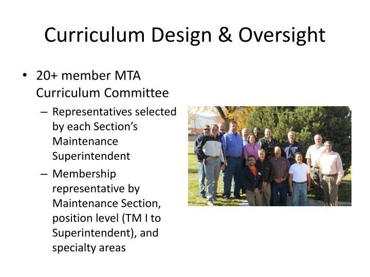 Curriculum Design & Oversight