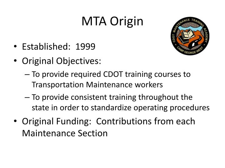 MTA Origin