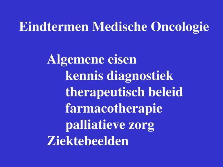 Eindtermen Medische Oncologie