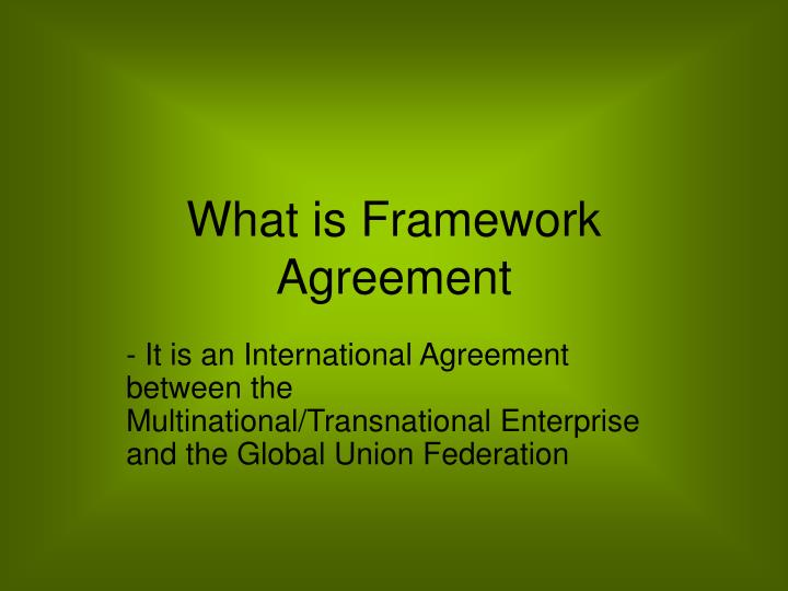 what is framework agreement