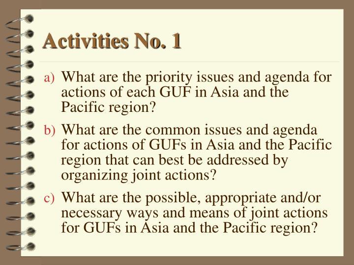 Activities No. 1