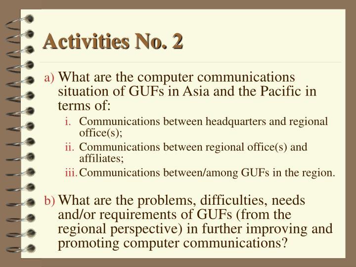 Activities No. 2