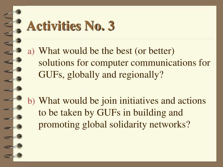 Activities No. 3