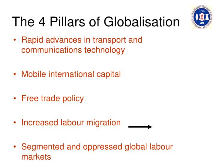 The 4 pillars of globalisation
