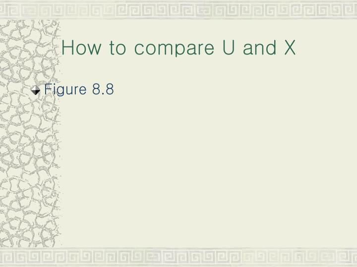How to compare U and X