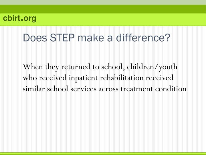 Does STEP make a difference?